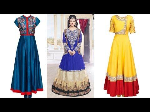 Long Anarkali Gown Dress Designs 2017 Part 03