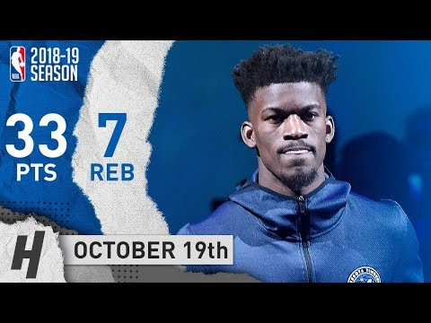 Jimmy Butler Full Highlights Wolves vs Cavaliers 2018.10.19 - 33 Points, 7 Reb, BEAST