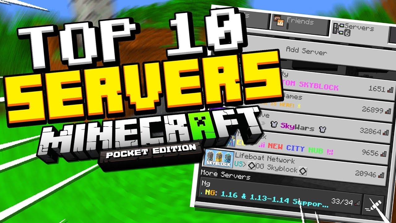 Top 10 Best Mcpe Servers Minecraft Pe Pocket Edition Xbox Windows 10 Ps4 Youtube