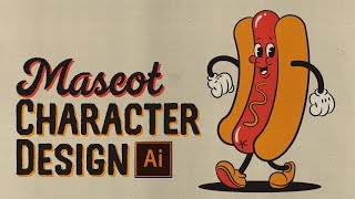 How to Draw a Retro Mascot Character Design in Illustrator