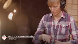 HEADLINER® SERIES WOOD DJEMBE, VINTAGE WINE BARREL - HDJ500VWB-M