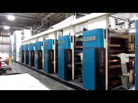 Harris M1000B (8) Unit (2) Web Press - 32 Page Commercial Heatset Web Press