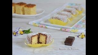 Cubotti di pan di spagna cocco e nutella - La foto ricetta Cubotti ...