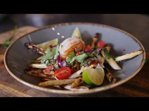 Spargel gegrillt mit Garnelen-Ceviche | #GRILLDOCHEINFACH