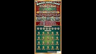$20 - $300m WORLD CLASS CASH - NEW! Lottery Bengal Scratch Off instant tickets   NEWER TICKET!