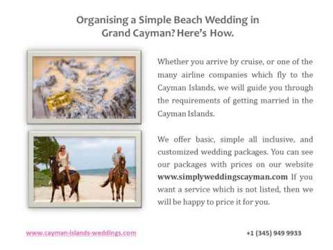 How to Organize a Simple Yet Perfectly Legal Wedding in the Cayman Islands