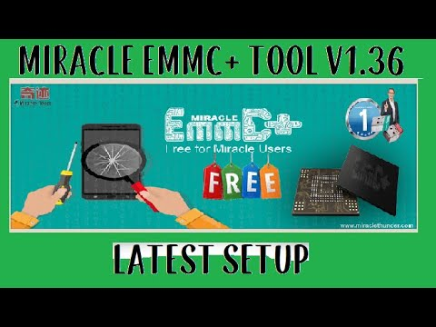 Miracle Emmc Plus V1.36 New Setup Update! New Year Gift for Miracle Users