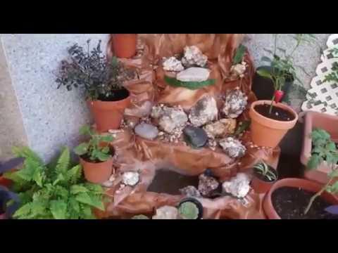 Como hacer una fuente 1 parte en forma de cascada para - Fuentes para terraza ...