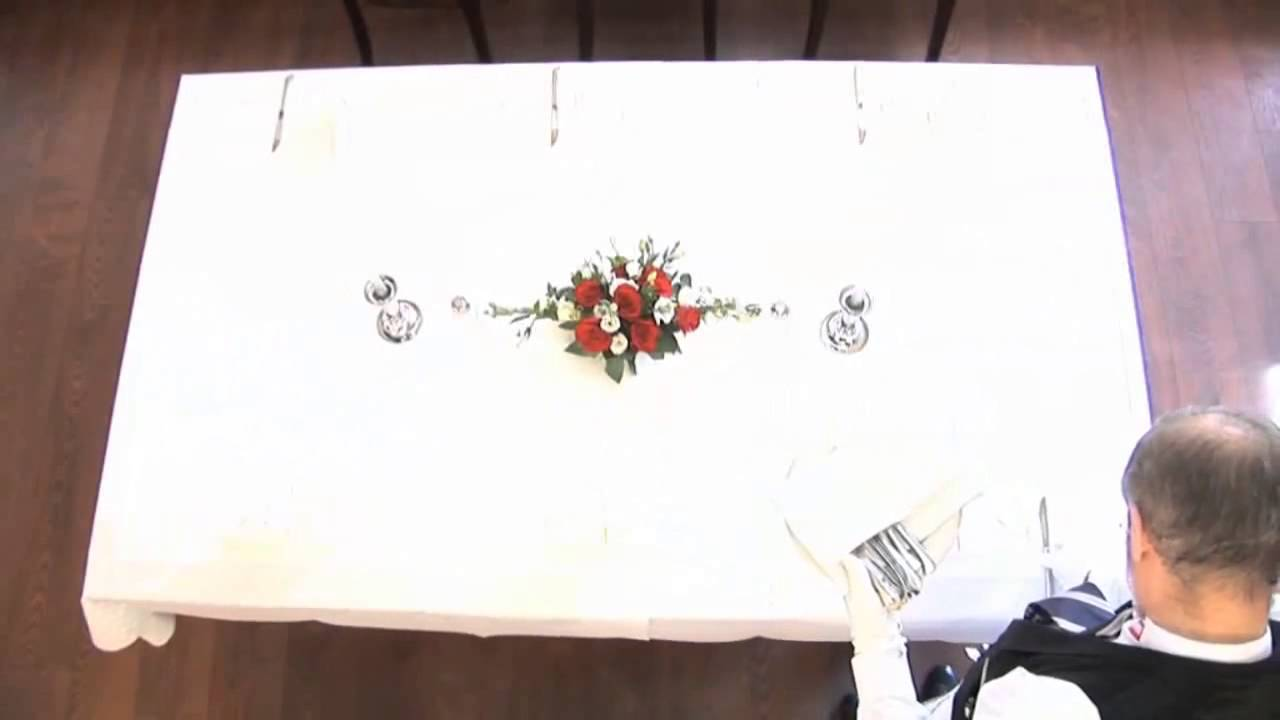 table set up 5 course menu youtube