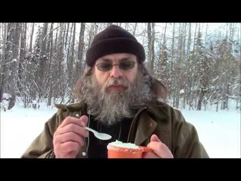 Making Camp Snow Ice Cream