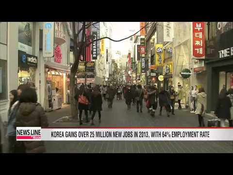 Korea's employment rate rises in 2013, but youth unemployment also edges up