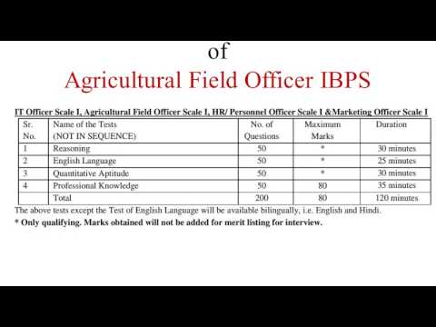 NEW PATTERN Agricultural Field officer IBPS