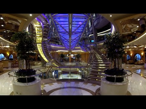 Freedom of the Seas Deck 4 Tour- Casino, The Crypt, Isaac's Dining Room 2015