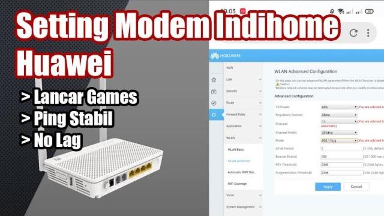 Cara Setting Router Huawei Hg8245h5 Indihome Khusus Game Anti Lemot Bermain Game Anti Lag Youtube