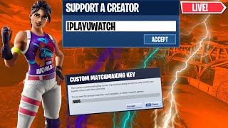 (EU) HOSTING CUSTOM MATCHMAKING FORTNITE BATTLE ROYALE #LIVE #CUSTOMMATCHMAKING #GiftingSkins