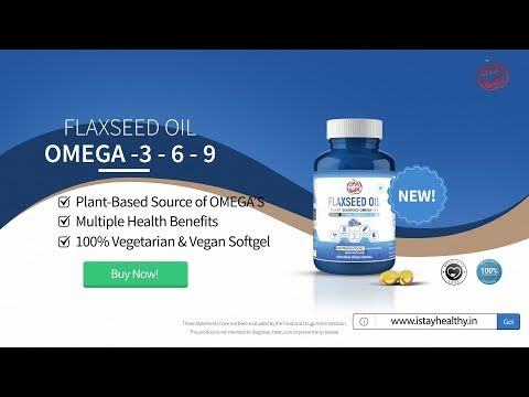 Istayhealthy Ultra Omega 3 6 9 Flaxseed Fatty Acid Oil Supplement