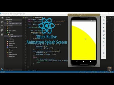 React Native Splash Screen ( Animation Circle )( Part 1 )