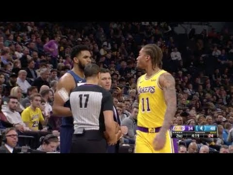 Michael Beasley Tells Ref He Wants To Fight Karl-Anthony Towns And They  Both Received Technicals