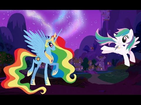My Little Pony Transforms - Color Swap Rainbow Dash Princess Celestia - MLP  Coloring Videos For Kids - YouTube