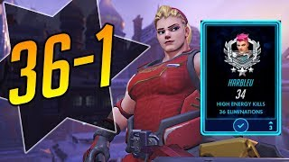 ZARYA CRUSHES THE COMPETITION 36-1 - Overwatch