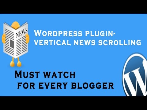 Wordpress Plugin- Vertical News Scrolling/How to Add