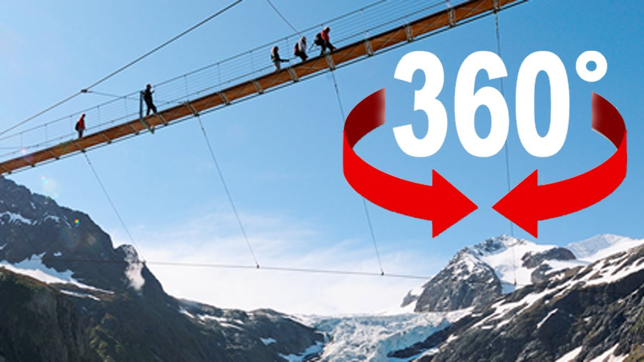 360° walk | ≪Trift≫ suspension bridge | Swiss Alps