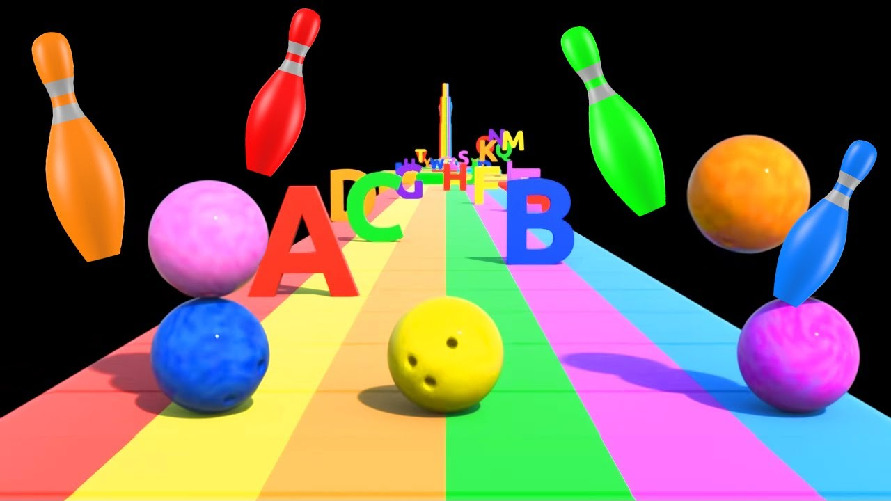 Download Binkie TV - Bowling Ball ABC Alphabet Song - Colors Fruits Fun