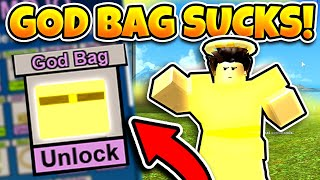 WHY YOU SHOULDN'T UNLOCK THE GOD BAG! (ROBLOX BOOGA BOOGA)
