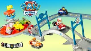 Paw Patrol Roll Patrol Lookout Tower Pat Patrouille Quartier Général Grande Vallée Jouet Toy Review