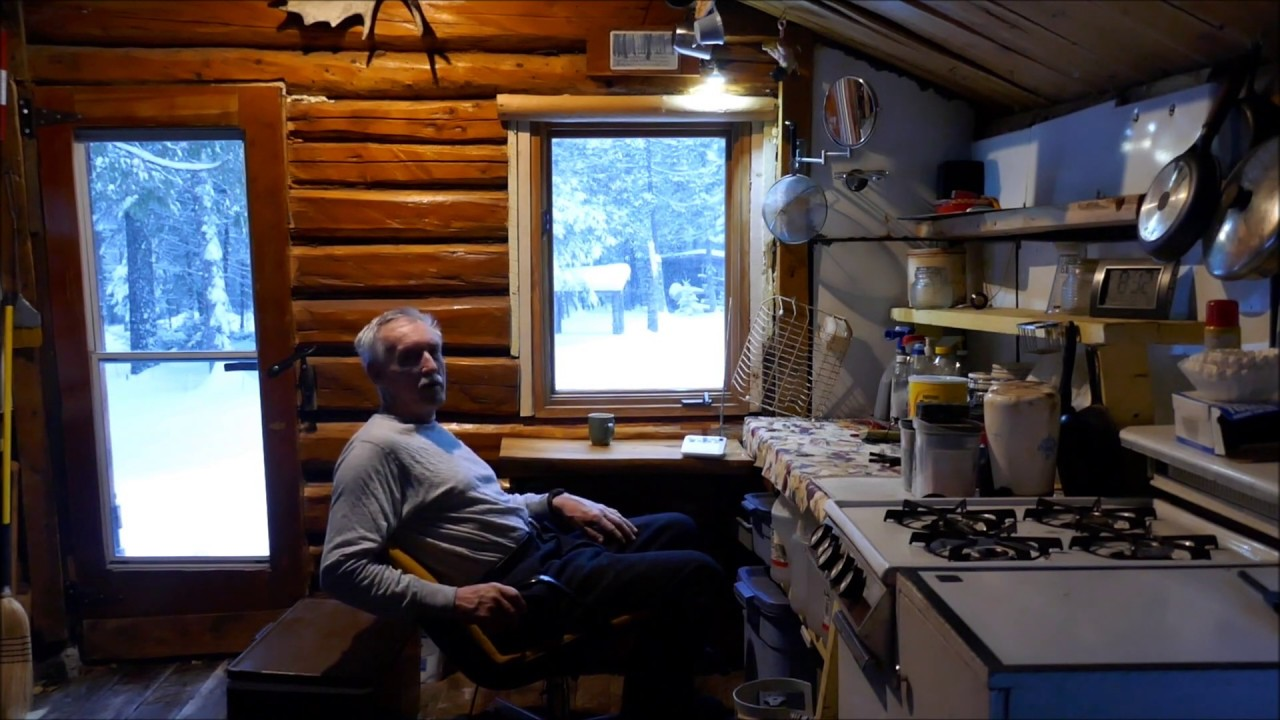 Martin S Old Off Grid Log Cabin 56 First Day Of Winter Trip To The Cabin Youtube