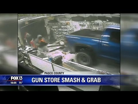 Thieves plow into Zephyrhills gun store with truck