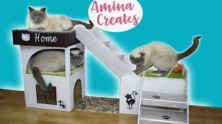 DIY amazing cat housе🏠Дом для кота своими руками🏠Идеи из картона