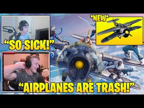 TFUE & Streamers *FIRST TIME* Using *NEW* Airplane Vehicle IN Fortnite! (Fortnite FUNNY Moments)