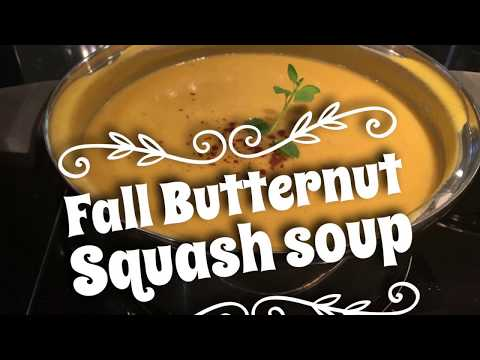 The Best Butternut Squash fall soup, Gut healing soup