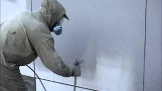 Покраска фасада безвоздушным распылителем Graco.(, 2013-09-15T19:11:20.000Z)