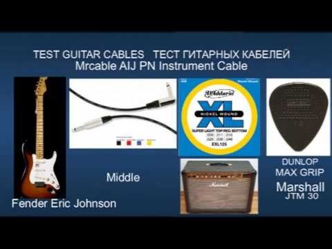 TEST Guitar Cables Lava VOVOX Fender Mrcable Fender Eric Johnson ...