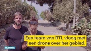 Dronebeelden tonen verwoesting Grieks dorp