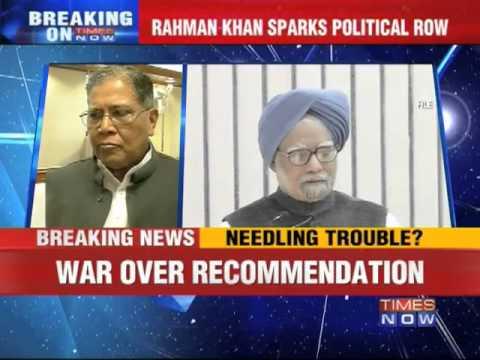 Rahman Khan sparks political row