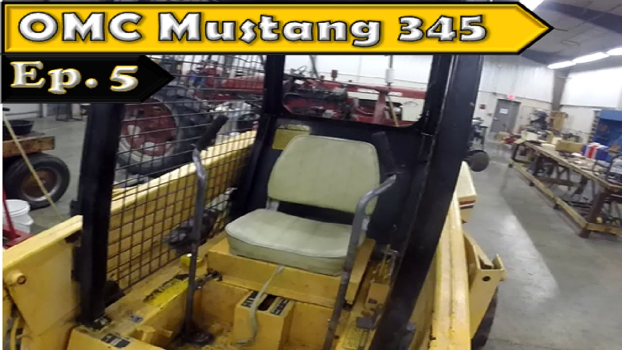 OMC Mustang 345 Skid Steer: No more T-Handle!