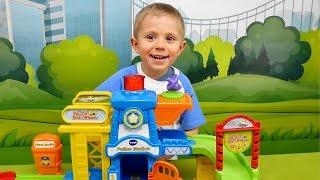 МАШИНКИ С ТРЕКОМ и Полицейский участок VTech - Интерактивные МАШИНКИ для детей - Играем в полицию