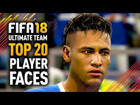 FIFA 18 ULTIMATE TEAM TOP 20 PLAYER FACES w/ RONALDO, MESSI & NEYMAR!