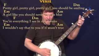 Treasure (Bruno Mars) Banjo Cover Lesson in Am with Chords/Lyrics Mp3