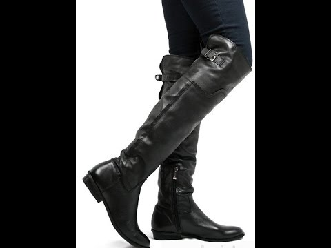 Черные женские сапоги 2017 / Black womens boots