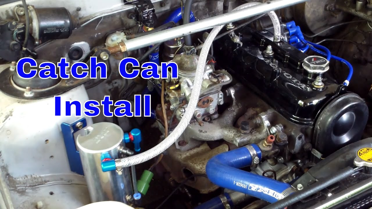 AE86 Cusco Catch Can Install - YouTube