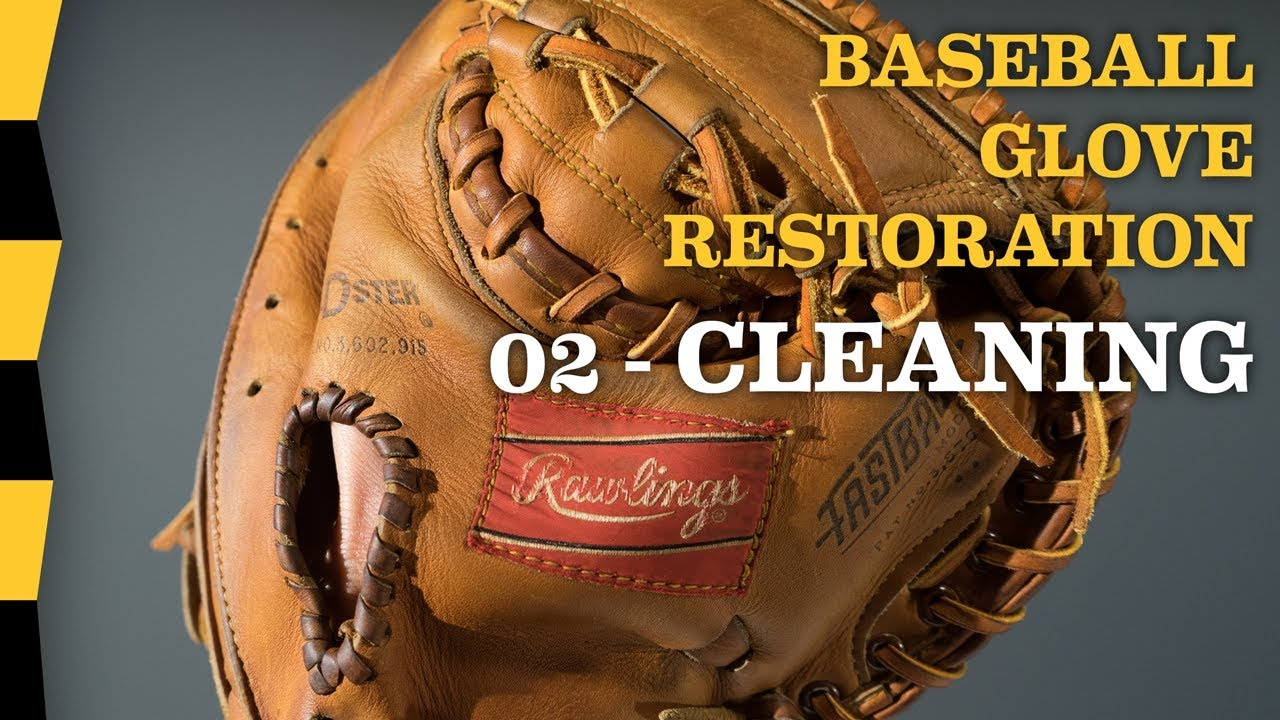 How To Clean Leather Of Vintage Baseball Glove 02 Cleaning Diy Baseball Glove Repair Youtube