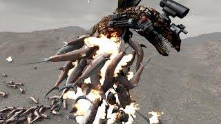 SUPER DRAGON vs 200 JUMPING LASER SHARKS! - Beast Battle Simulator Gameplay   Pungence