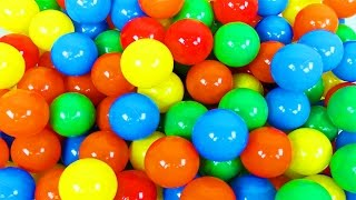 BALL PIT SHOW! Learning Colors with a Ball Pit!