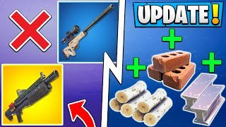 *ALL* Fortnite 7.30 Changes! | Building Update, 4 Vaults, Silenced SMG!