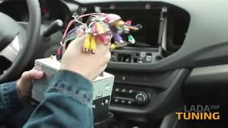 Установка 2 Din магнитолы и камеры в Лада Веста