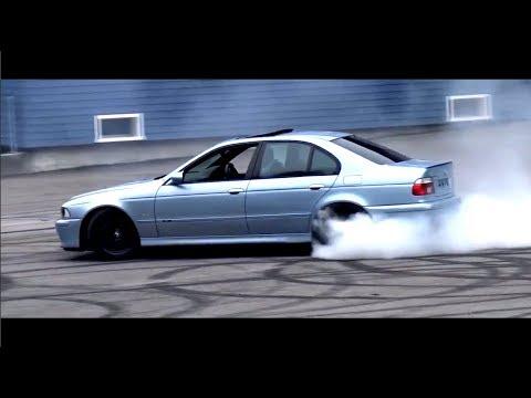 BMW M5 E39 V8 Burnout Drift Compilation Brachial V8 Sound